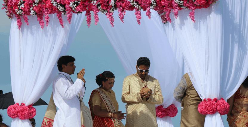 Elaborate beach side wedding